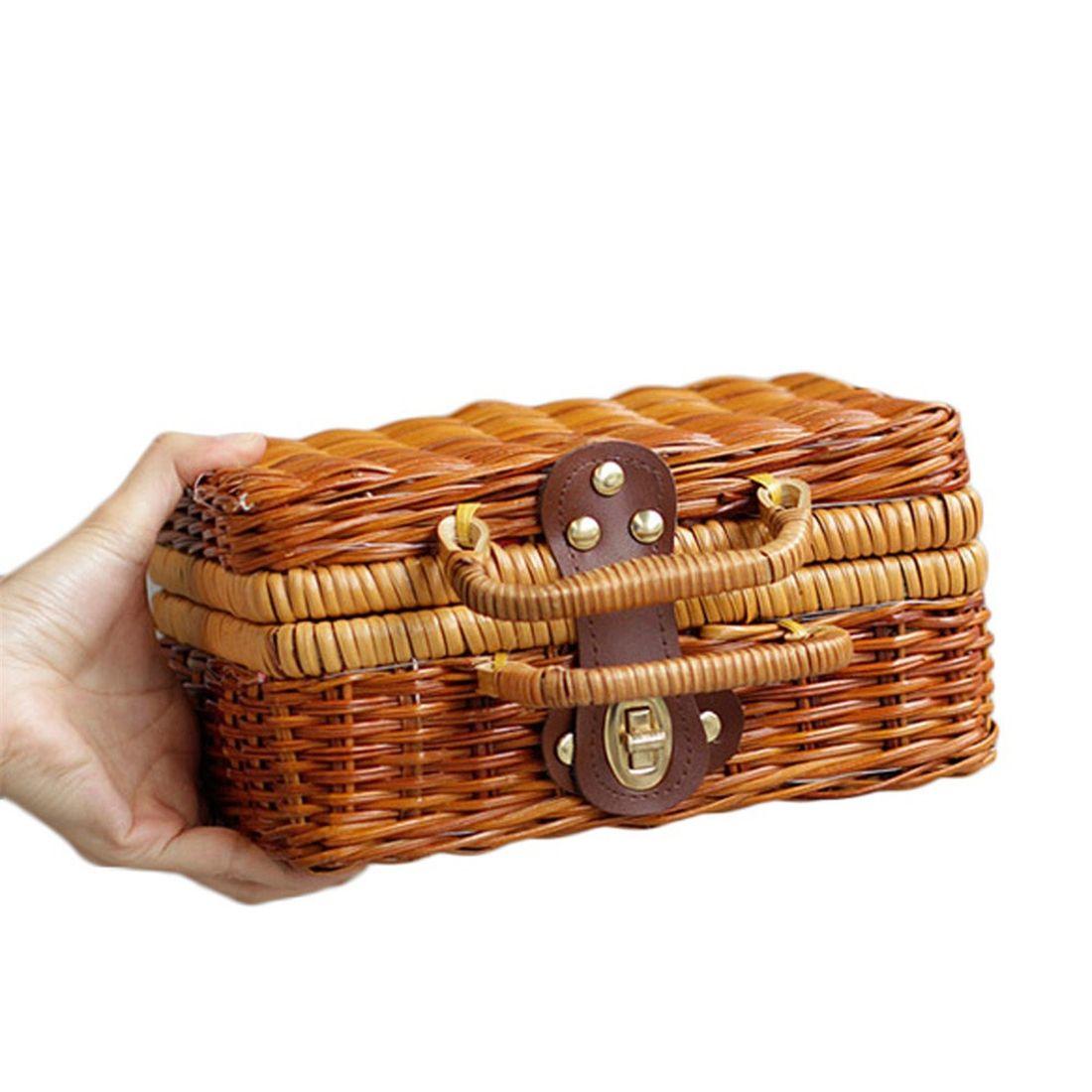 Женские сумки и кошельки Чистая рука г-жи кантон г-жи Куш китайская литература искусство винтажной корзины бамбука путешествия в сумке для хранения реквизит (Фото 3)
