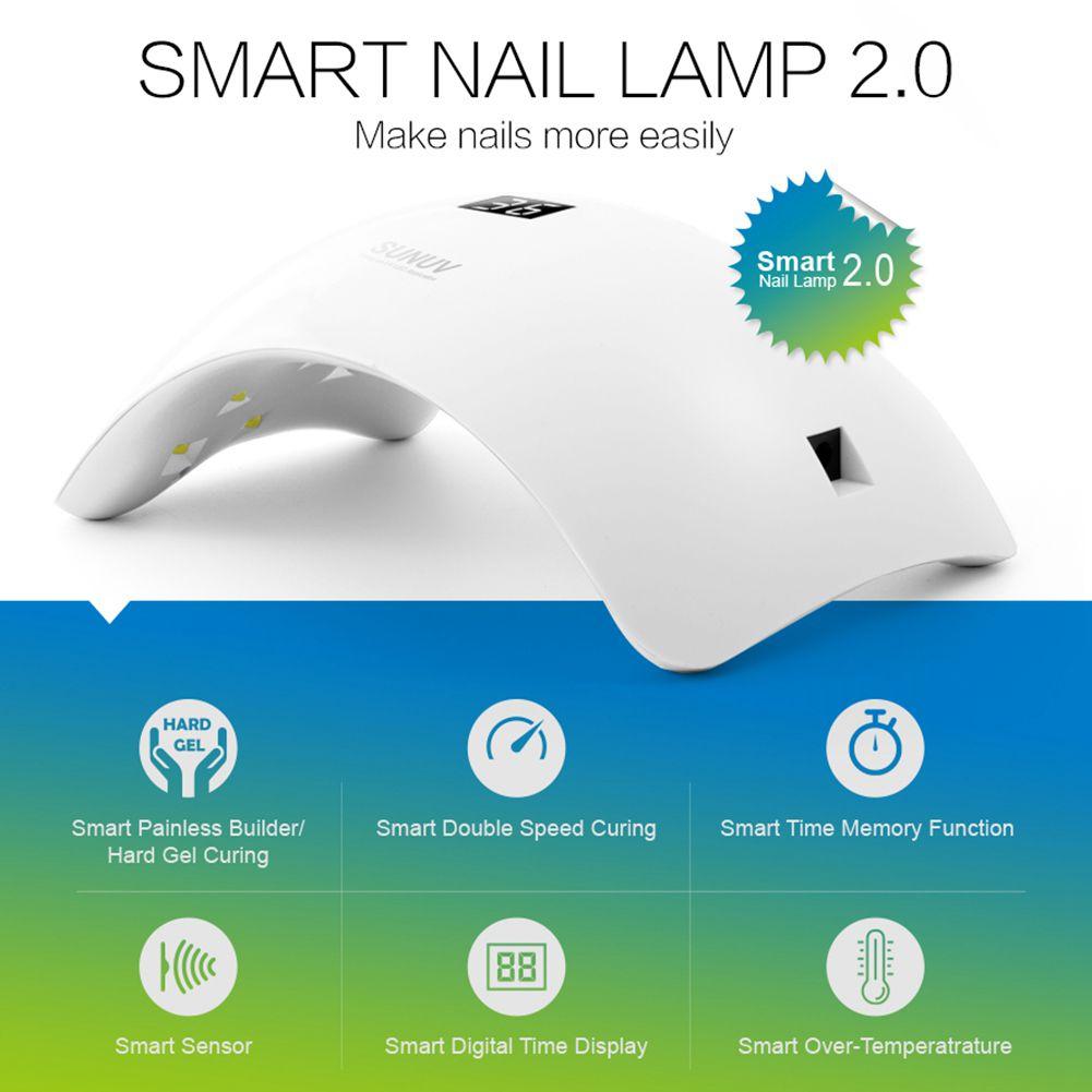 Здоровье и гигиена SUNUV SUN8 LED 48W Лампа для маникюра с режимом слабого нагревания с 3 вариантами времени (Фото 4)