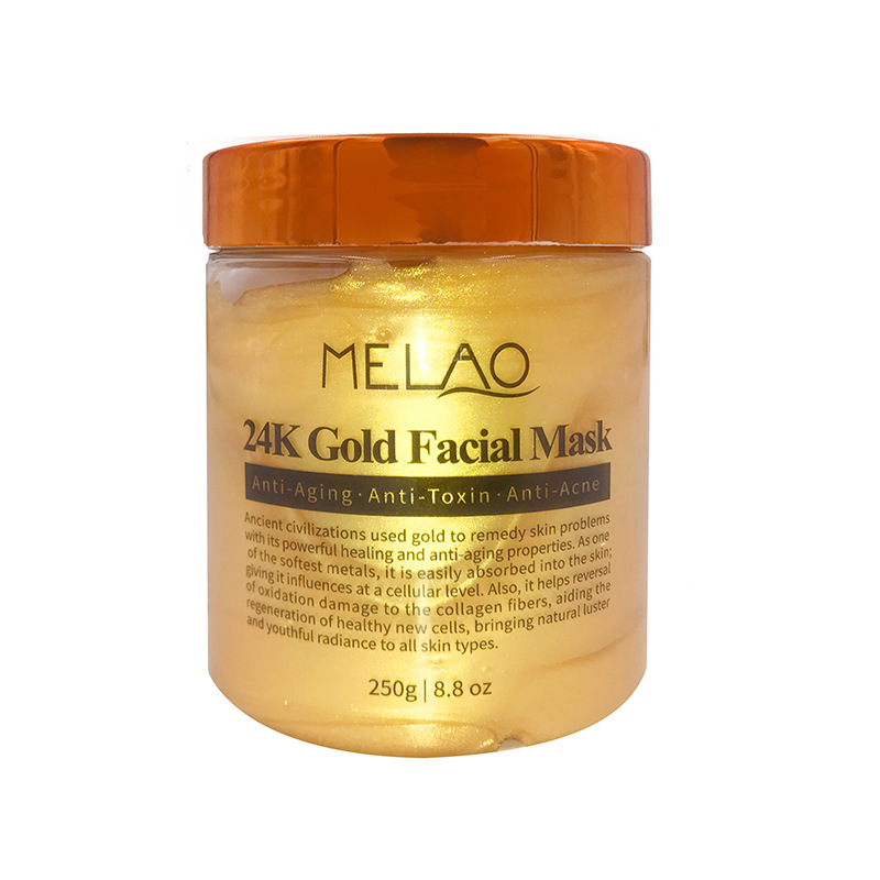 Здоровье и гигиена MELAO 24K Анти-возрастная золотая маска для лица против морщин и акне, 250 г (Фото 3)