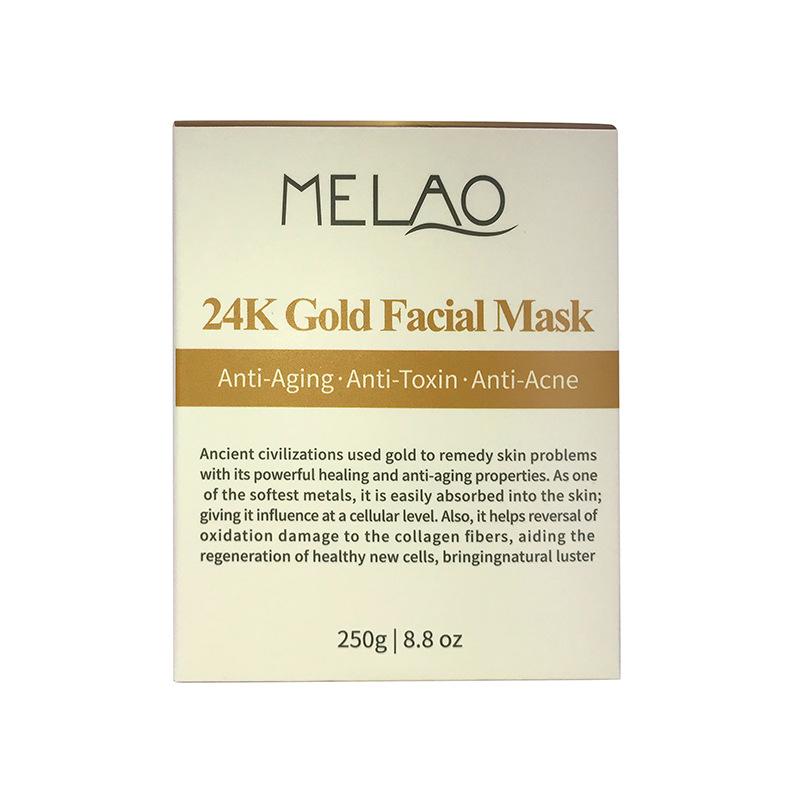 Здоровье и гигиена MELAO 24K Анти-возрастная золотая маска для лица против морщин и акне, 250 г (Фото 5)