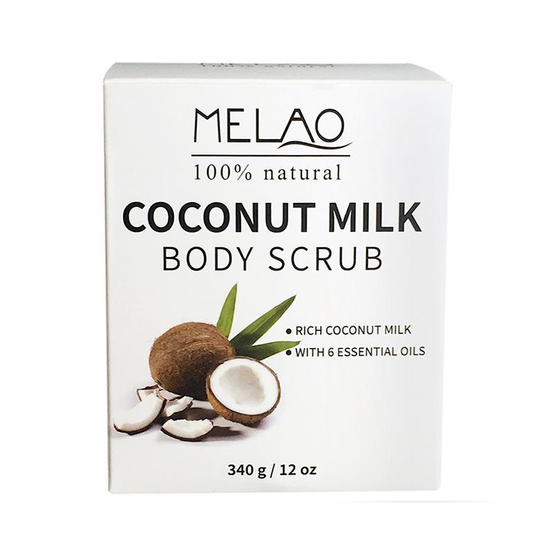 Здоровье и гигиена MELAO 340 г 100% Натуральное кокосовое молочко для тела с солью Мертвого моря, миндальным маслом и витамином Е (Фото 2)