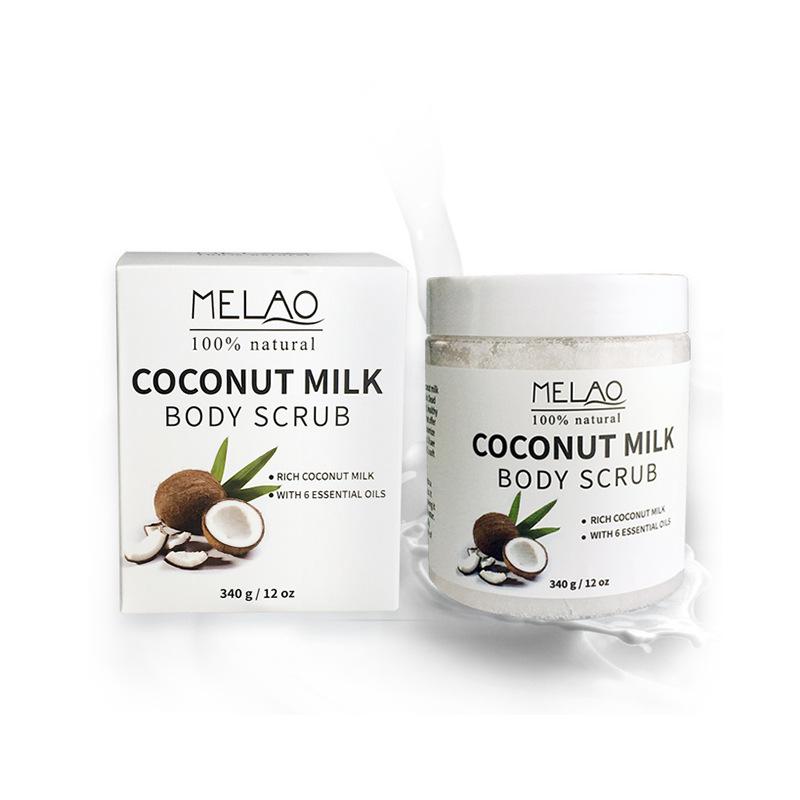 Здоровье и гигиена MELAO 340 г 100% Натуральное кокосовое молочко для тела с солью Мертвого моря, миндальным маслом и витамином Е (Фото 3)