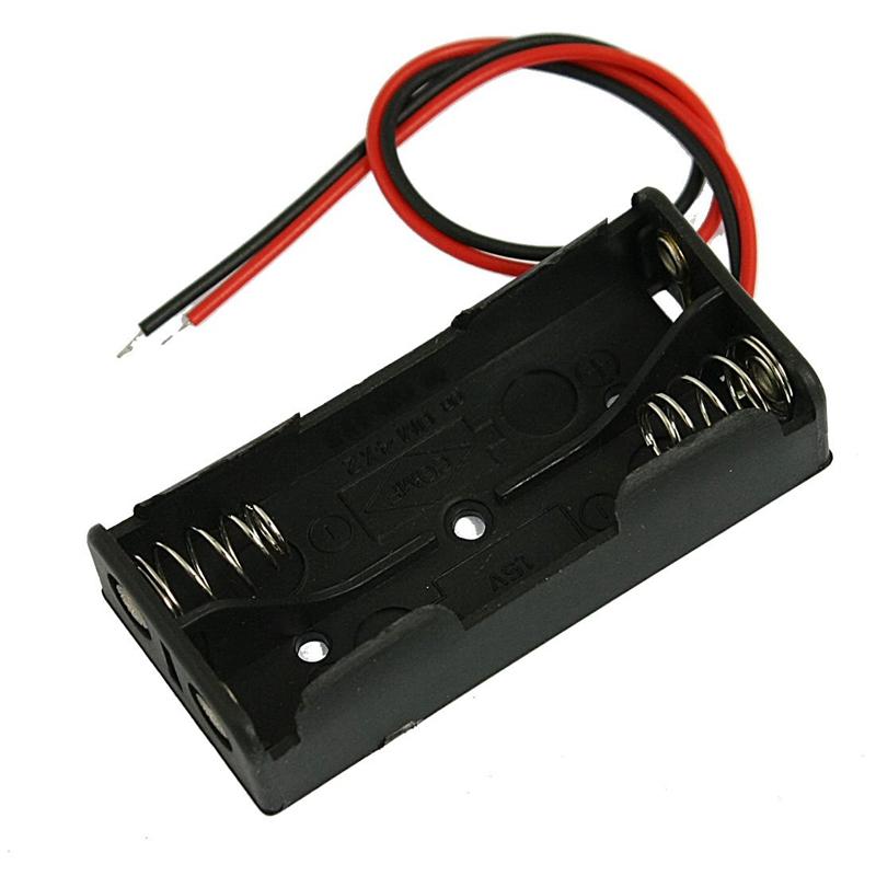 Черная пластмассовая батарейная проволока 2 x 1,5 В AAA 【Не более 1 товара на человека】