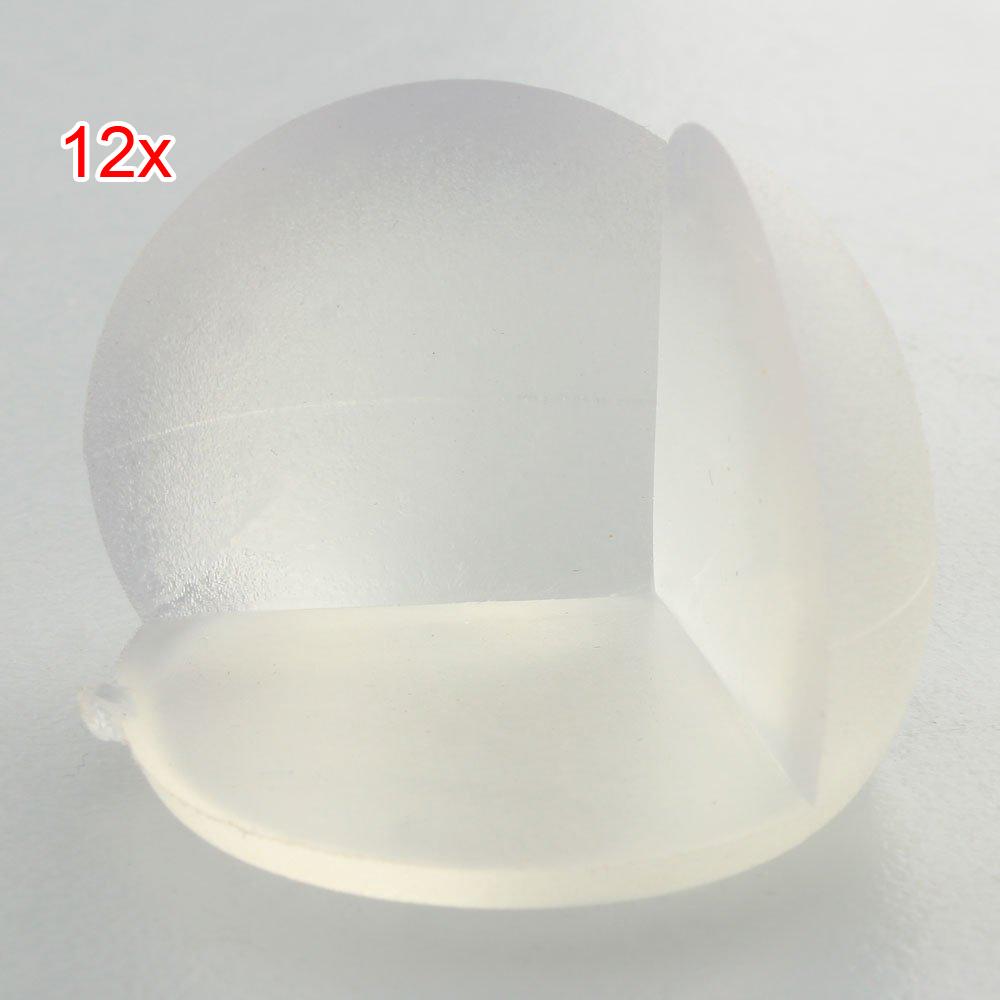 12 stk transparente schutzpolster fuer ecken kante von tisch schreibtisch de ebay. Black Bedroom Furniture Sets. Home Design Ideas