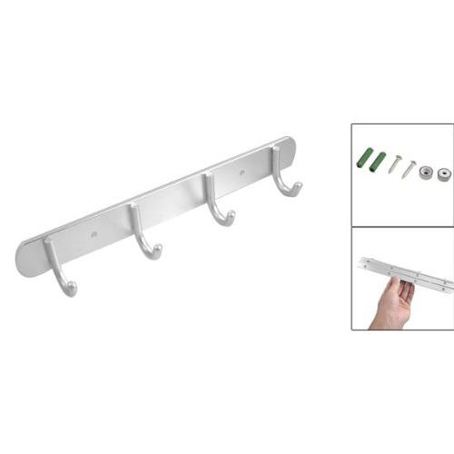 Colgador 4 ganchos aleacion de aluminio para abrigo ropa for Ganchos de aluminio para ropa