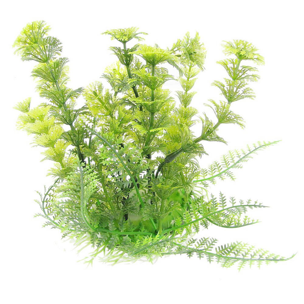 Plante d 39 aquarium en plastique herbe 6 7 de haute for Plante pour aquarium