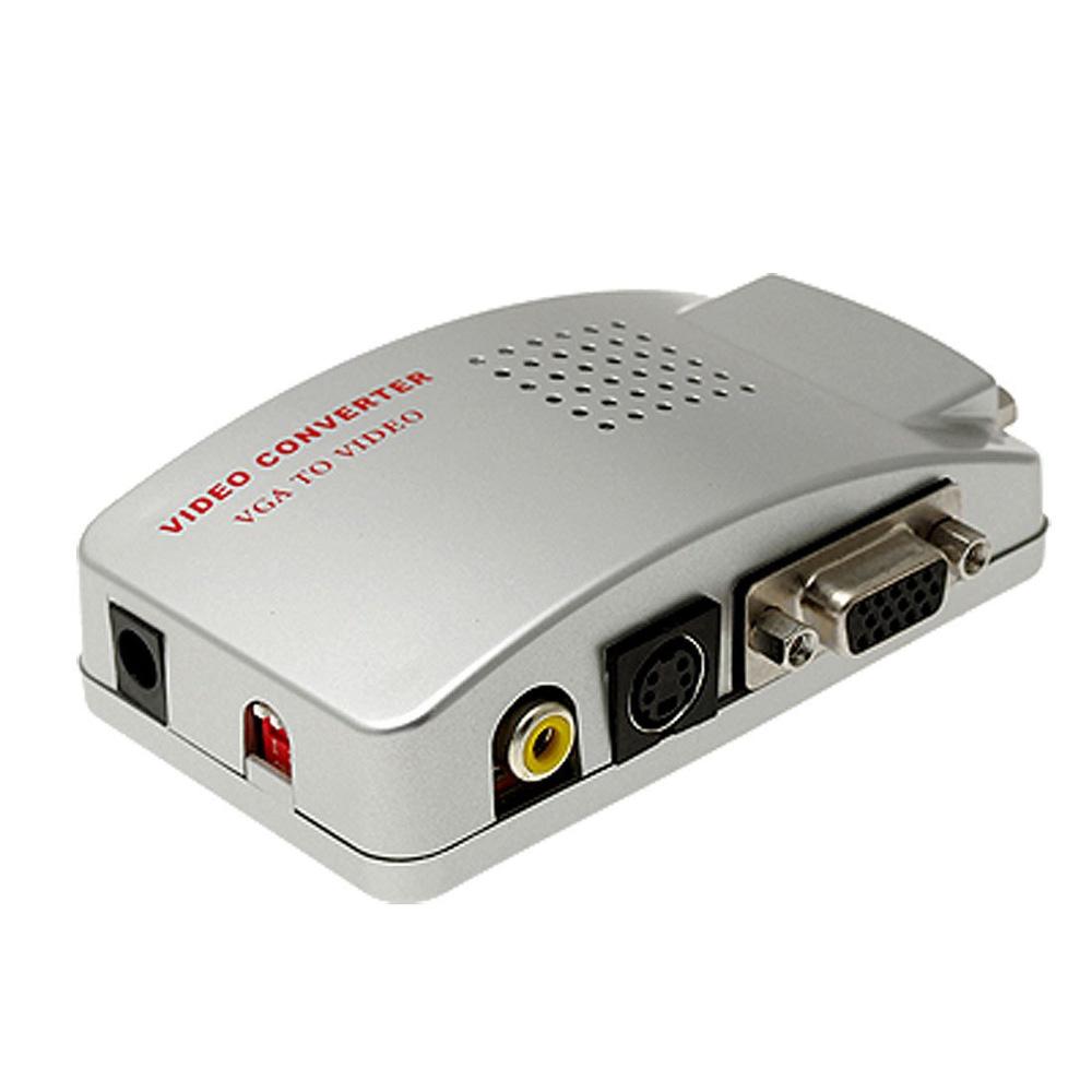 VGA A TV AV Composito RCA S Video Convertitore Box
