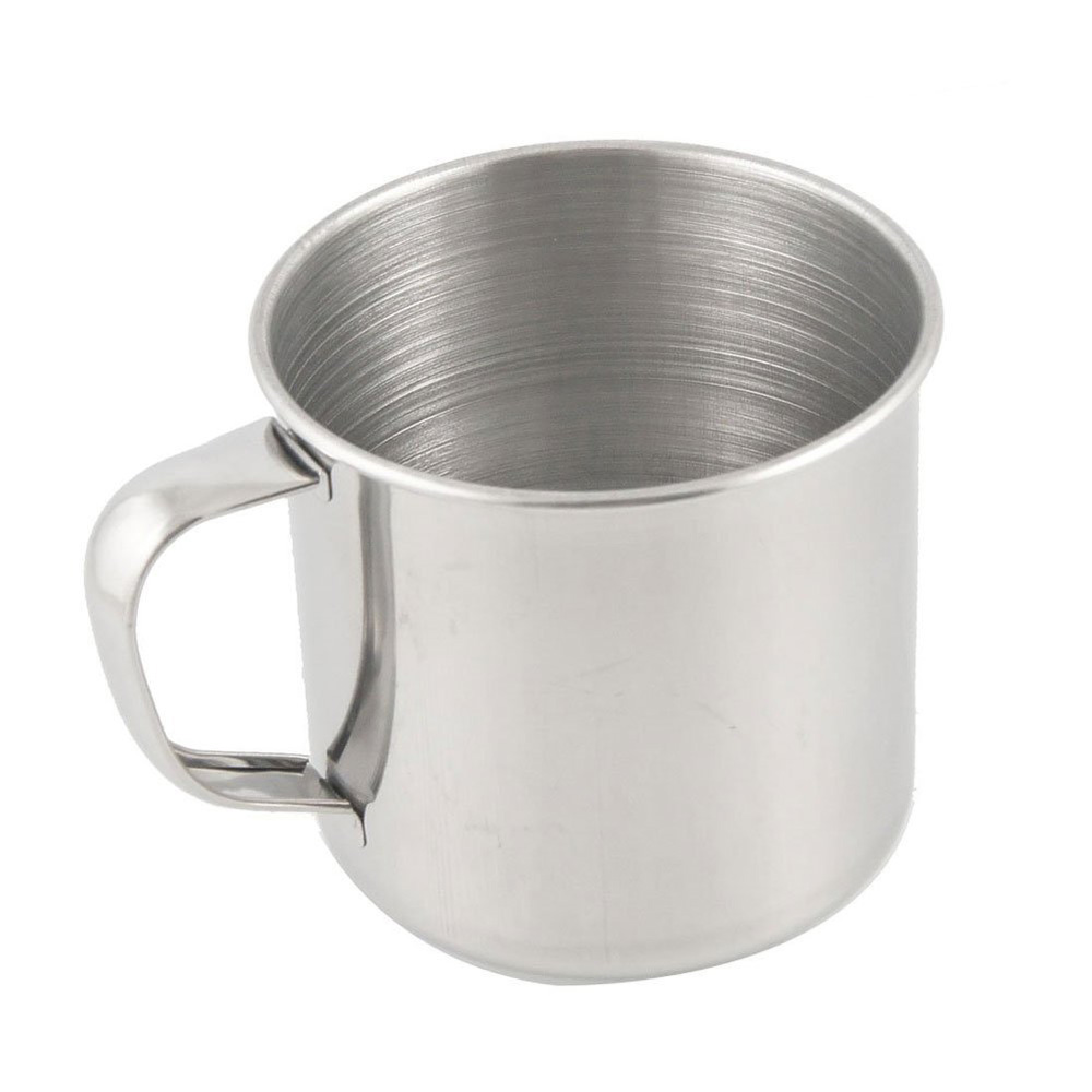 stainless steel coffee tea mug cup camping travel 3 5 dt ebay. Black Bedroom Furniture Sets. Home Design Ideas