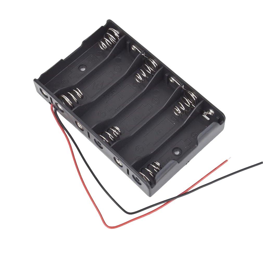 t 6x1 5v aa zellen akku batterien halter aufbewahrung kasten 9v anschlussleitung ebay. Black Bedroom Furniture Sets. Home Design Ideas