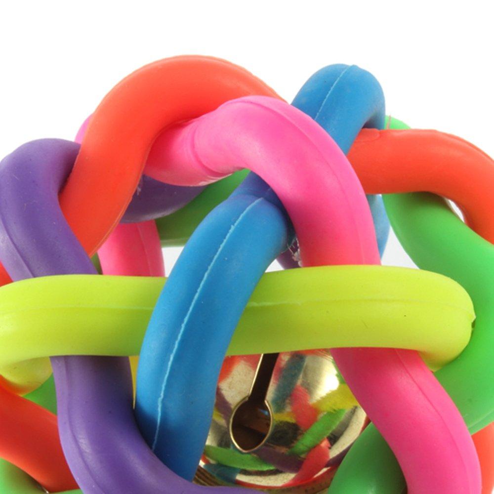 Jouet pour les animaux Balle coloré en caoutchouc avec sonore de cloche WT 3