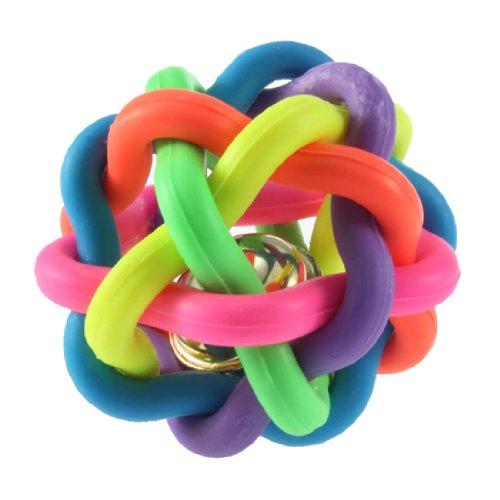 Jouet pour les animaux Balle coloré en caoutchouc avec sonore de cloche WT