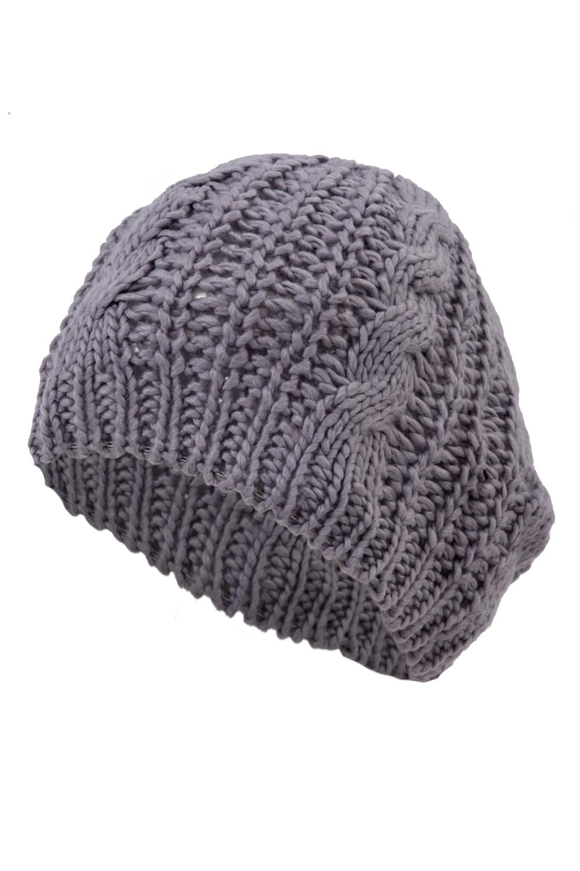 Baggy Beanie Hat Crochet Pattern : Braided Baggy Beanie Crochet Knitting Warm Winter Wool Hat ...