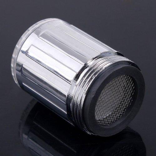 Licht Dusche Led : LED Licht Wasser Hahn 7 Farbwechsel gluehen Dusche Leitungsstrom H3815