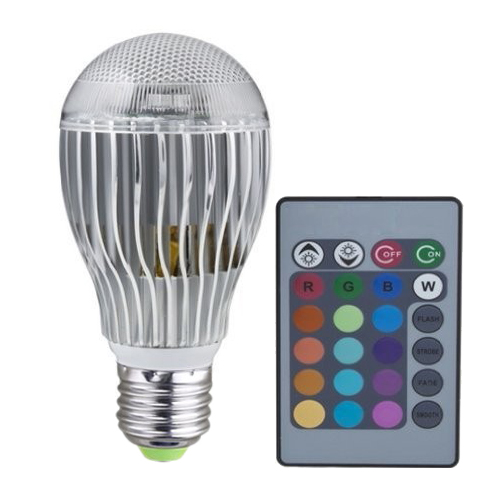 e27 8w 8 watt farbe rgb led licht lampen birne mit fernbedienung 85 265v gy ebay. Black Bedroom Furniture Sets. Home Design Ideas