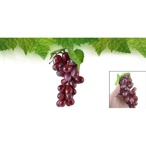 Purple plastic artificial grapes cluster fruit decor desk for Artificial cherries decoration