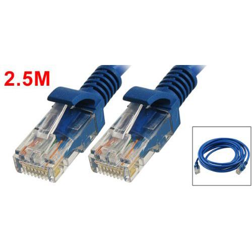8 ft feet 2 5m rj45 cat5 cat 5 lan network cable blue for. Black Bedroom Furniture Sets. Home Design Ideas