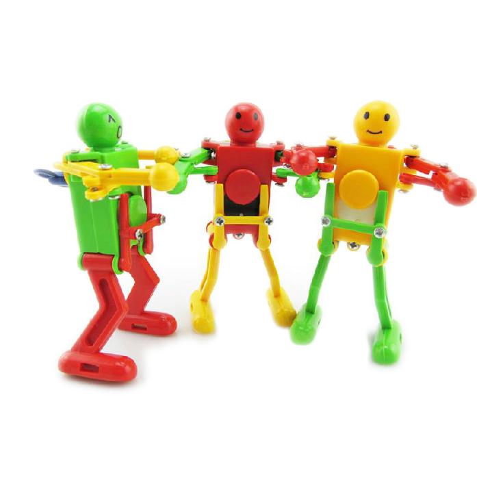 Juguete Robot Bailando de Cuerda Plastico Amarillo Verde Rojo para Ninos T5
