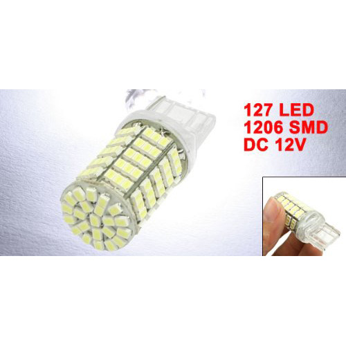 Z2G3 10X New White T20 7440 7444 922A 1206 SMD 127 LED Car Tail Brake Light Lamp