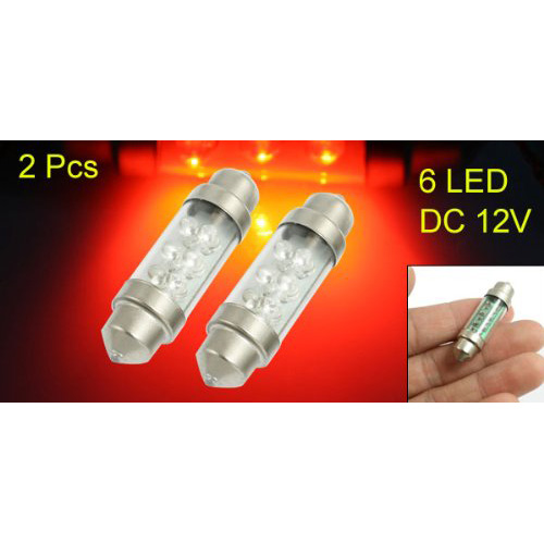 2pz auto car interior girlande licht rot 6 leds for Led deckenleuchte lang