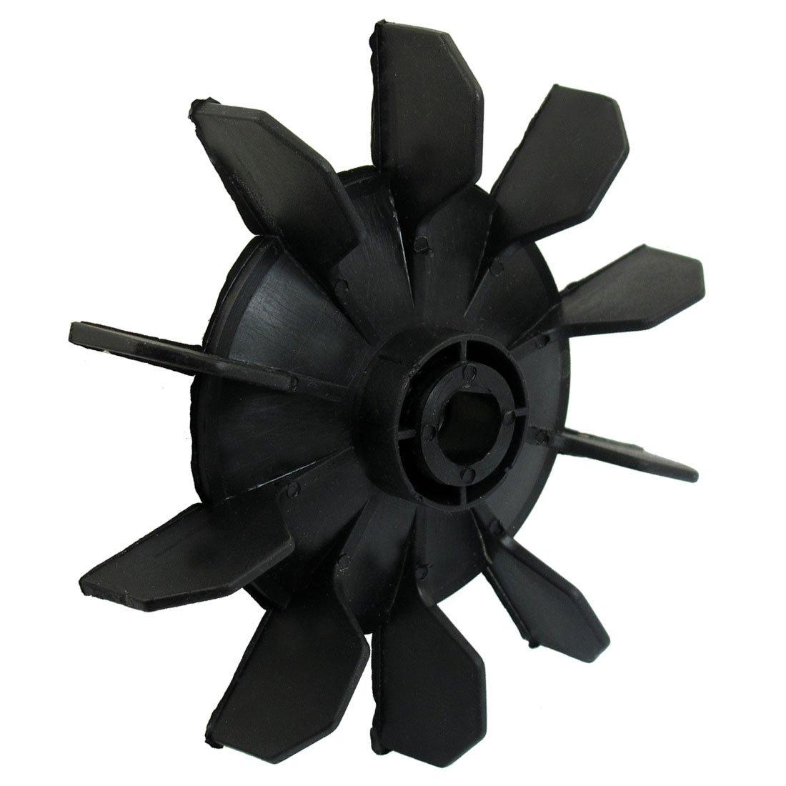 Air compressor part black plastic 14mm inner dia ten for Plastic fan blades for electric motors