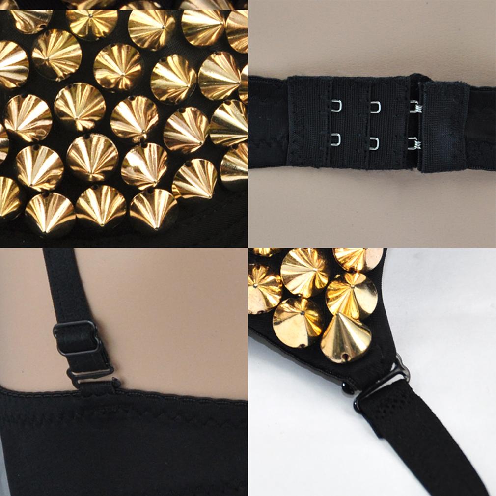 frauen sexy silber ton metallpunkspitze nieten sammeln niet bh bustier y8. Black Bedroom Furniture Sets. Home Design Ideas
