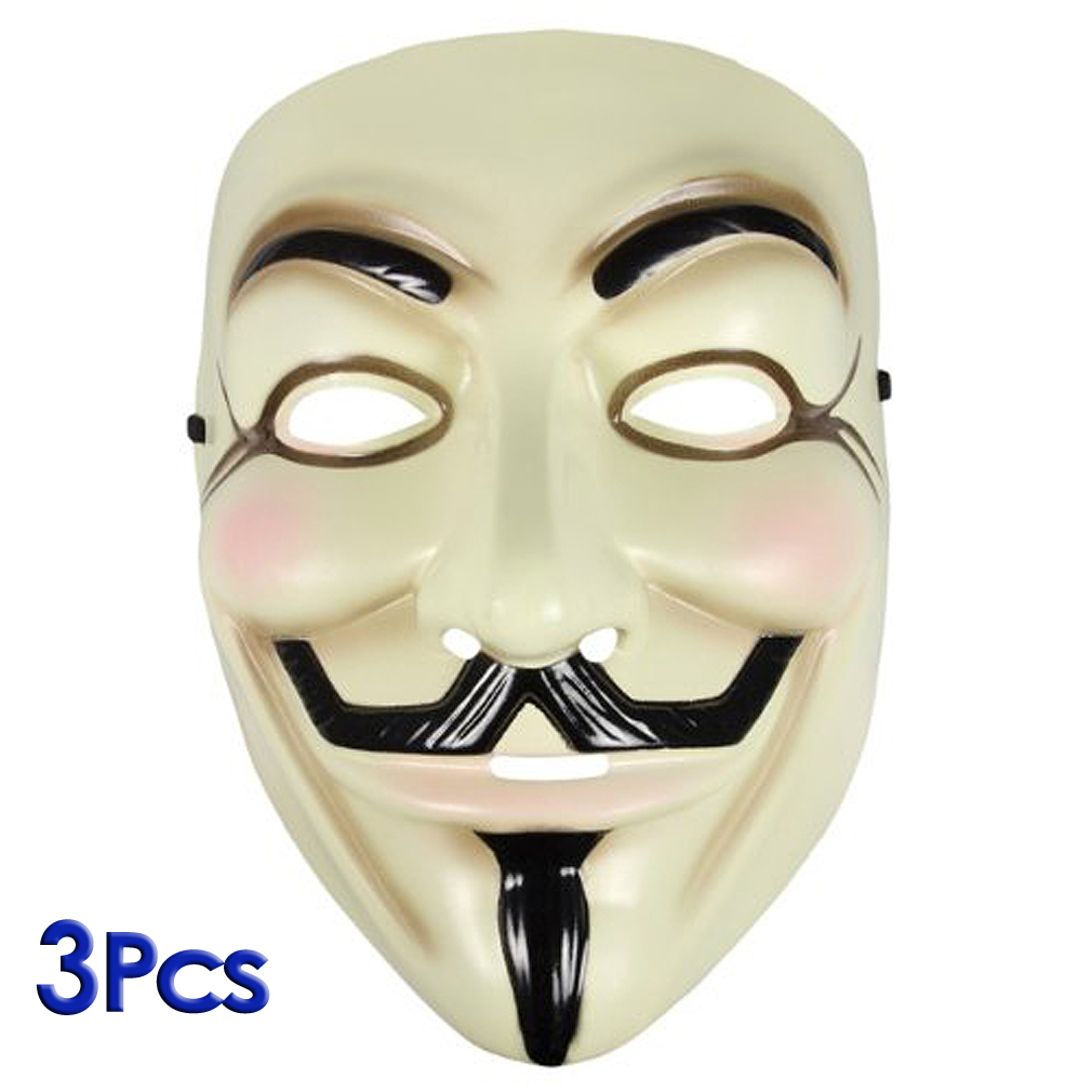 guy fawkes maske v wie for vendetta mask beige package of 3 de ebay. Black Bedroom Furniture Sets. Home Design Ideas