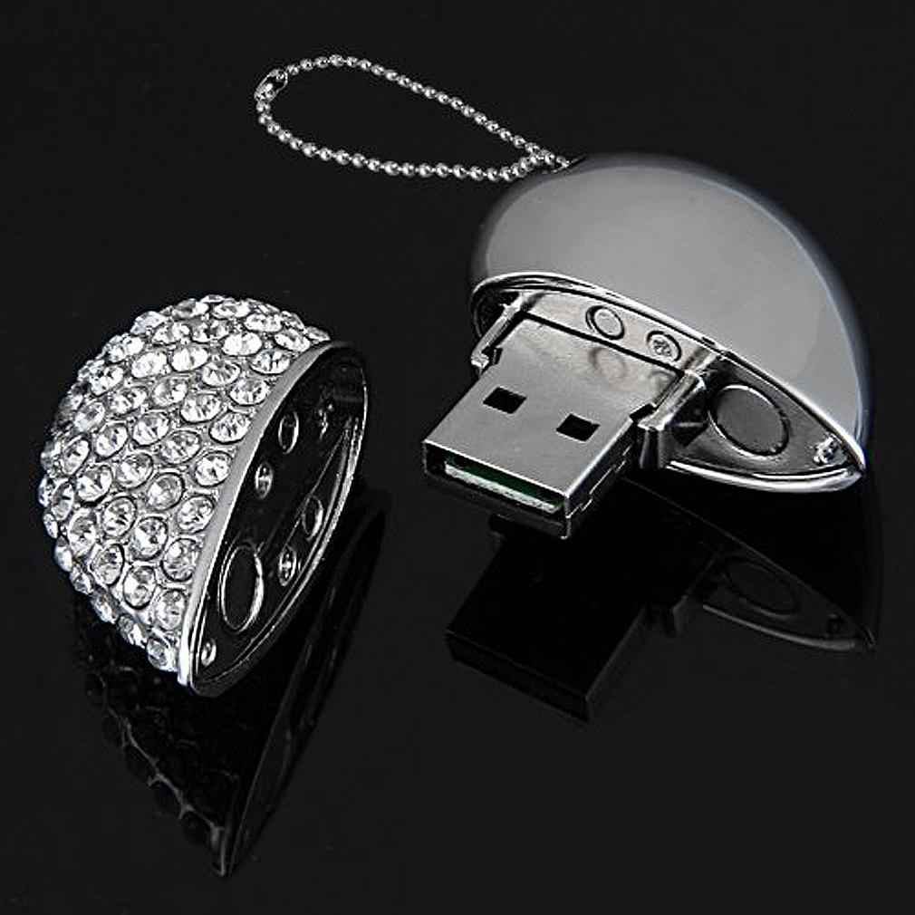 4gb usb2 0 speicherstick daten memory stick flash drive herz anhaenger silber gy ebay. Black Bedroom Furniture Sets. Home Design Ideas