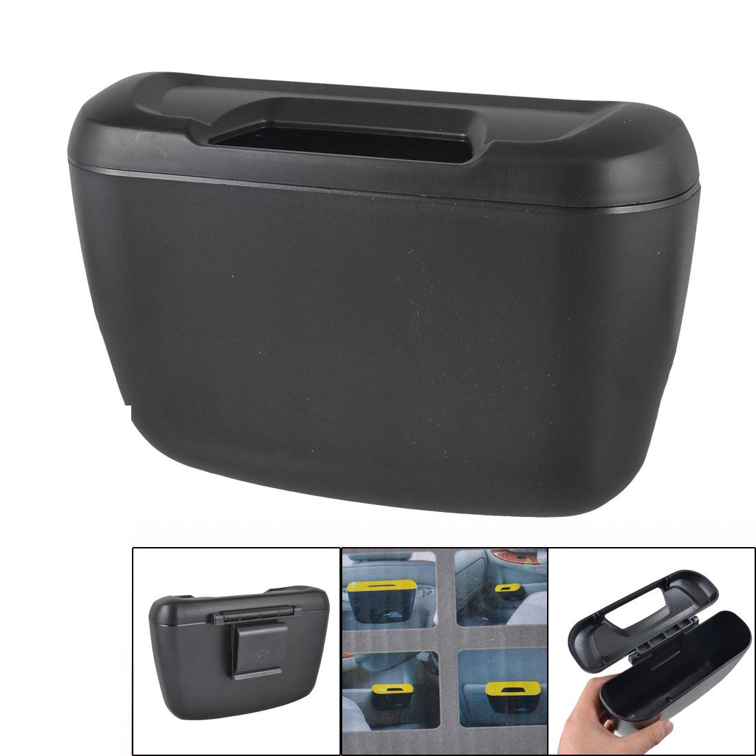 noir pour vehicule auto en plastique poubelle de voiture avec crocheta1f2 ebay. Black Bedroom Furniture Sets. Home Design Ideas