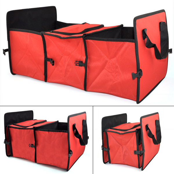 red 2 in 1 car boot organiser shopping tidy heavy duty. Black Bedroom Furniture Sets. Home Design Ideas