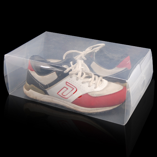 5 x clear plastic mens shoe storage boxes containers size 8 9 10 11 sh ebay. Black Bedroom Furniture Sets. Home Design Ideas