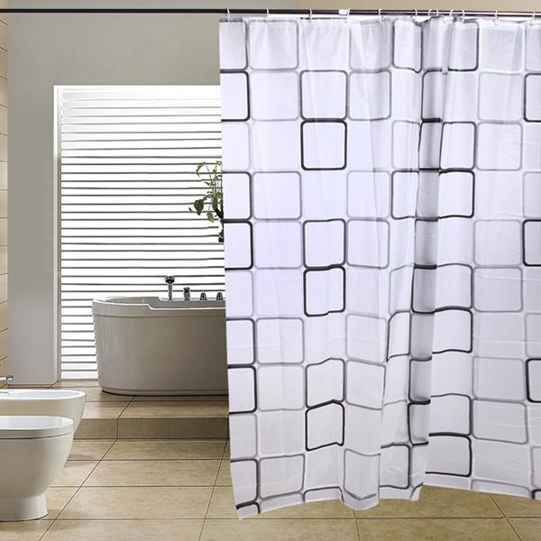 neu modern badezimmer sitzwanne duschvorhang mit haken 180. Black Bedroom Furniture Sets. Home Design Ideas