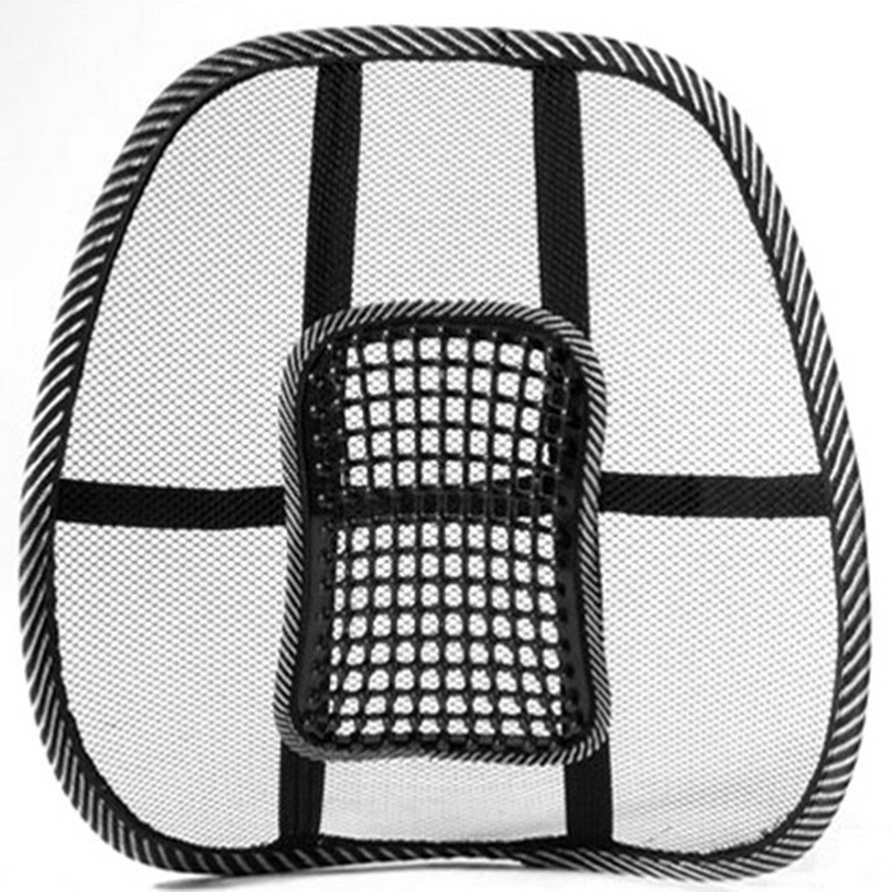 mesh back lumbar support massage beads for car seat chair massage