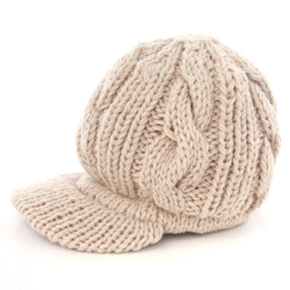 Women Slouchy Cabled Pattern Knit Beanie Crochet Rib Hat ...