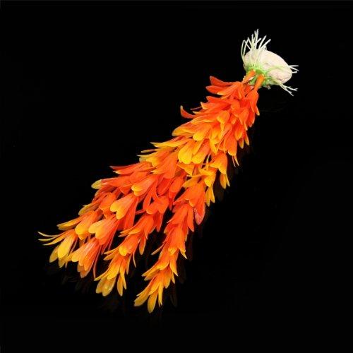 Plante artificielle aquatique plastique orange decoration for Plante orange