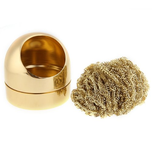 solder tip cleaner iron metal sponge sponge gold color new sh aud pi. Black Bedroom Furniture Sets. Home Design Ideas