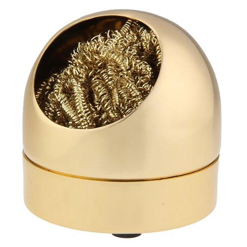 solder tip cleaner iron metal sponge sponge gold color new bt ebay. Black Bedroom Furniture Sets. Home Design Ideas