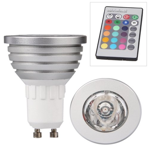 gu10 5w 16 farbwechsel rgb led spot licht light lampe ir fernbedienung gy ebay. Black Bedroom Furniture Sets. Home Design Ideas