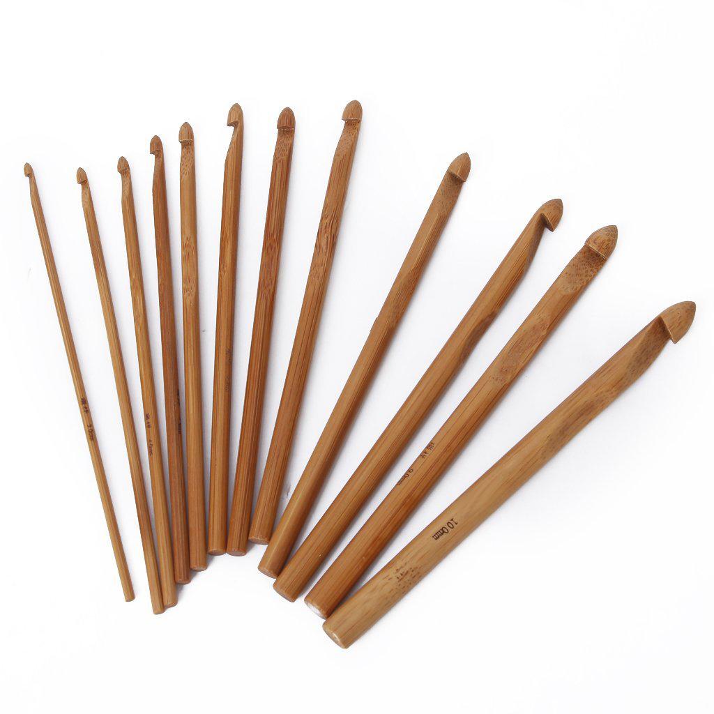 Knitting Needle Sets In Case Uk : Pcs bamboo crochet hooks knitting needles set with case