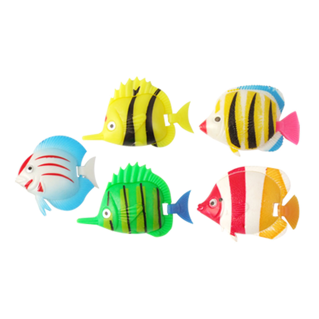 He Aquarium Artificial Movable Tail Swimming Fish 5 Pcs