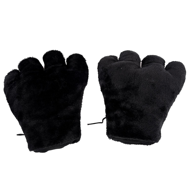 2-x-Negro-Guantes-de-peluche-de-patas-de-gato-Cosplay-de-fiesta-K9E1