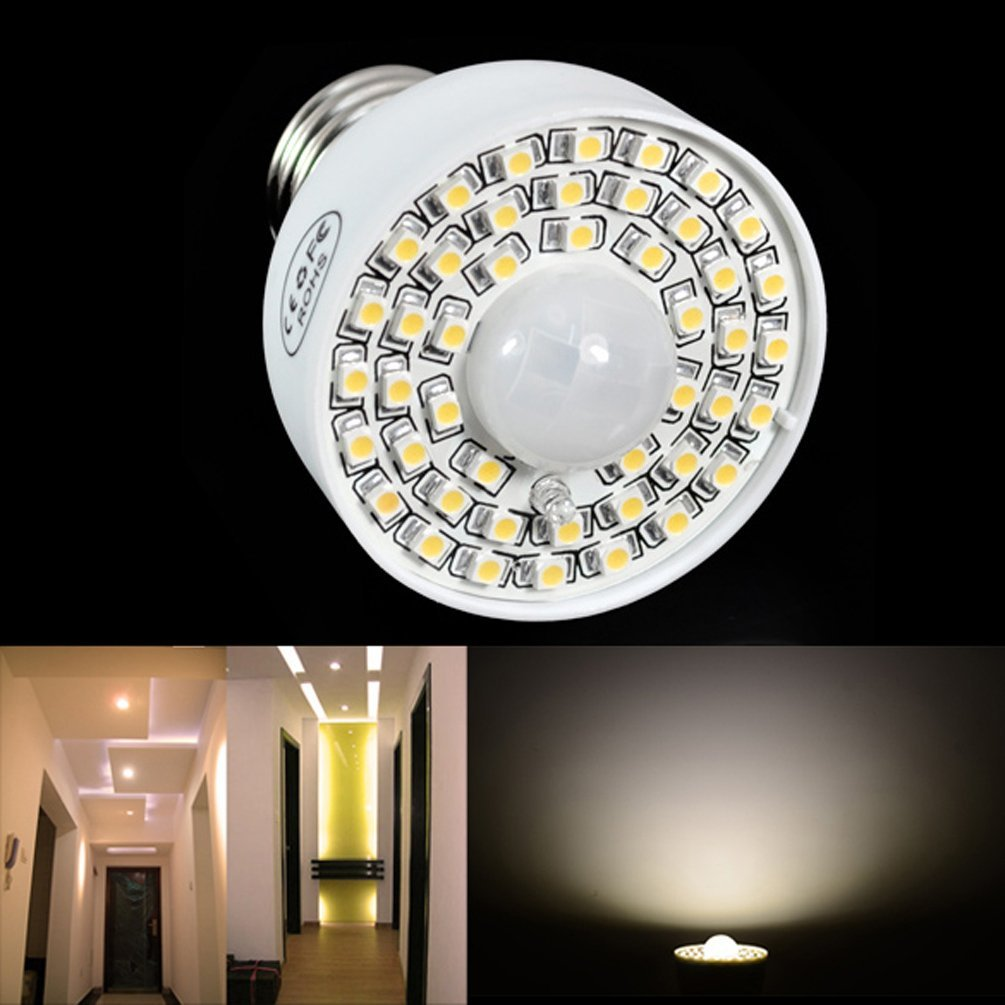 e27 akustische sensor 3528smd 45led birnen lampe licht pir bewegungsmelder et ebay. Black Bedroom Furniture Sets. Home Design Ideas