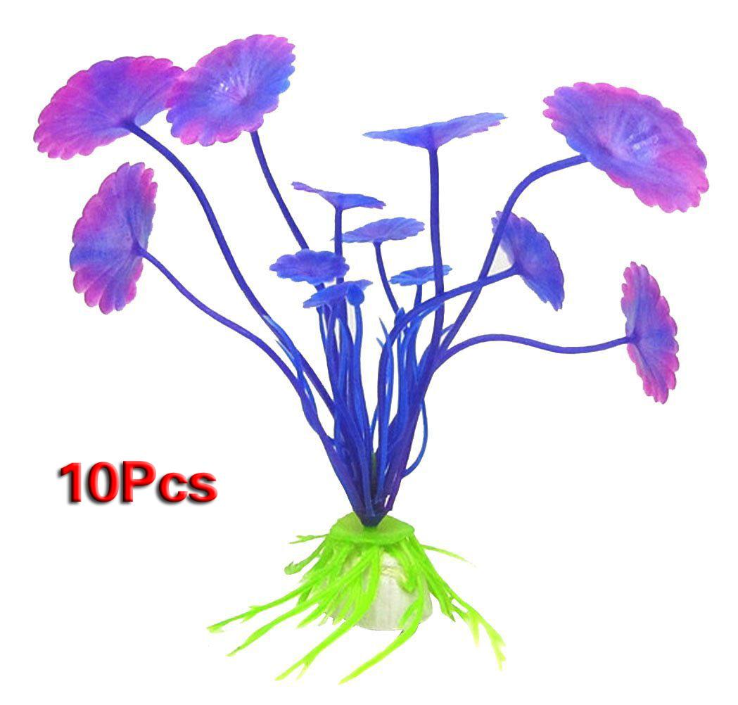10x plastique aquarium pourpre plantes poisson reservoir for Aquarium plastique