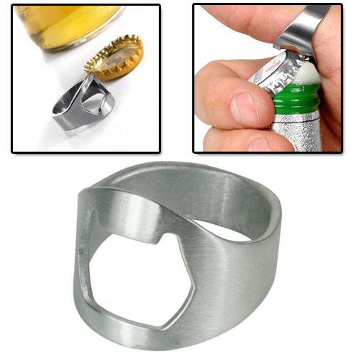 5x stainless steel metal finger thumb keyring ring beer bottle opener bar bts. Black Bedroom Furniture Sets. Home Design Ideas