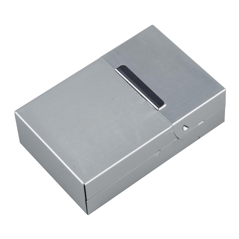 magnetic metal aluminum pocket cigarette cigar tobacco box case sk. Black Bedroom Furniture Sets. Home Design Ideas
