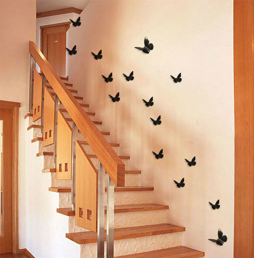 Autocollant nouveau 3d diy mur papillon decoration d for Decor d interieur