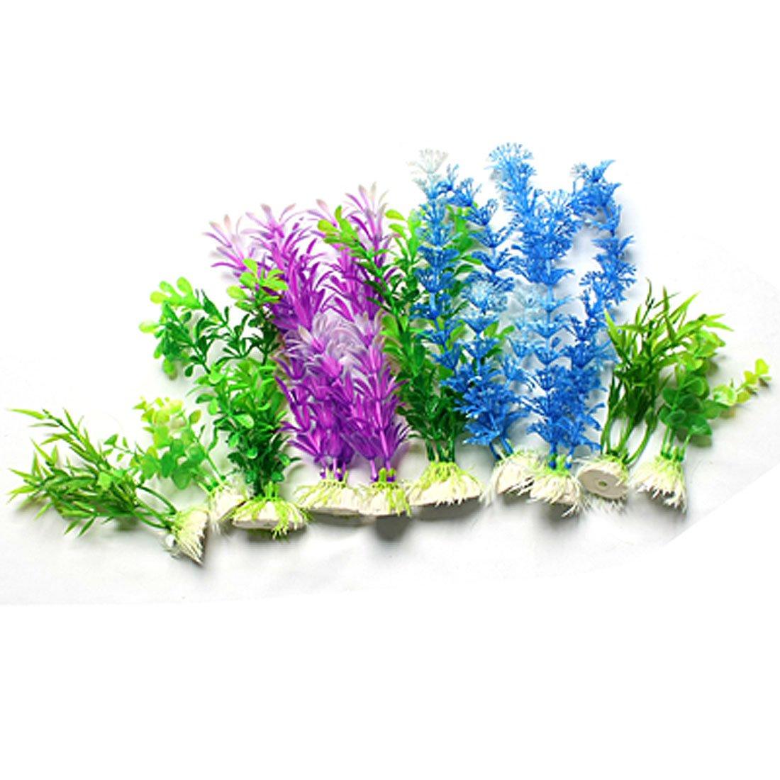 10 stueck lila blau gruen mischfarbe gras aquarium. Black Bedroom Furniture Sets. Home Design Ideas
