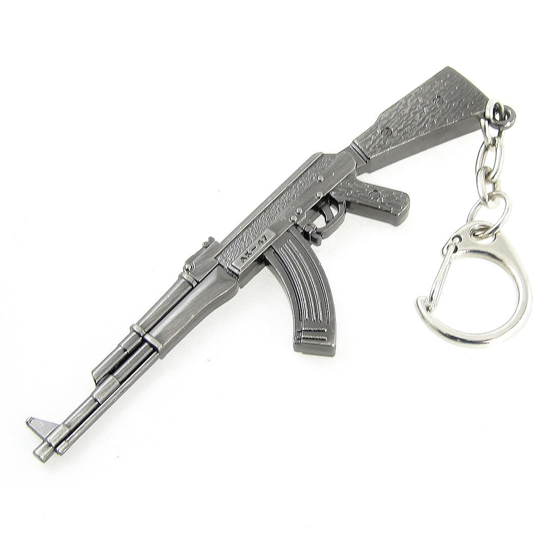 miniature ak 47 fusil pistolet modele homard crochet pendentif porte gris wt. Black Bedroom Furniture Sets. Home Design Ideas