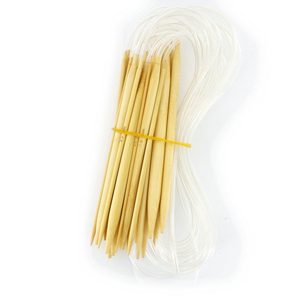 Circular Knitting Needle Sizes : Sizes inch bamboo circular knitting needles