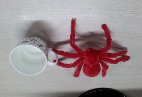 30cm Large Spider Plush Toy / Halloween Decor - Red CT