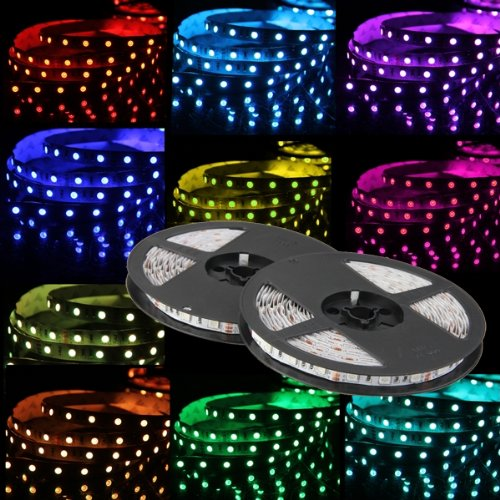 10m 2x5m bande ruban flexible lumineux 5050 smd 600 led rgb rvb dc 12v wt ebay. Black Bedroom Furniture Sets. Home Design Ideas